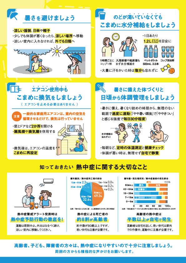 熱中症対策のリーフレット 2 労務管理 熱中症対策
